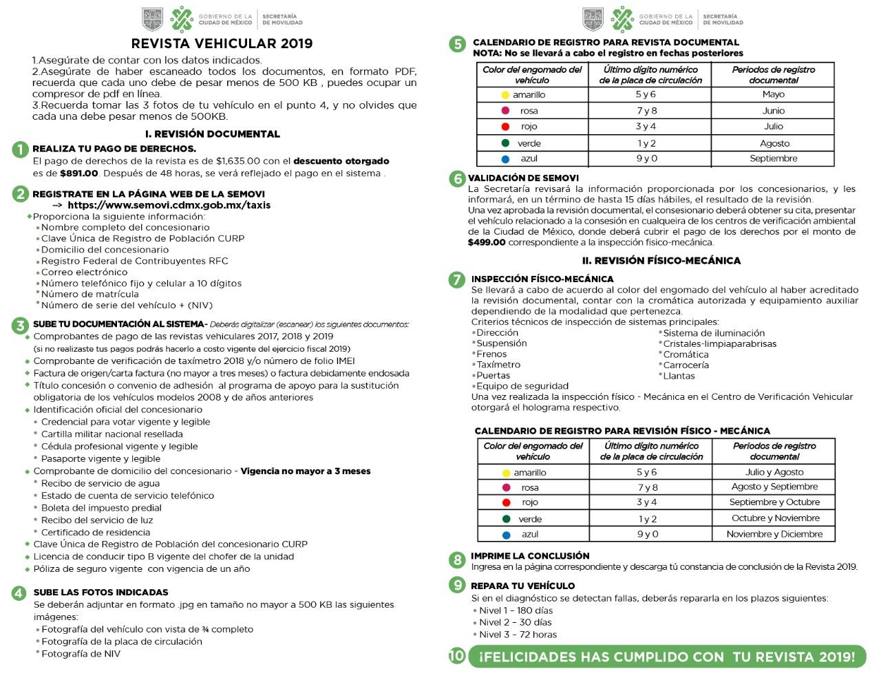 Calendario De Verificacion Fisico Mecanica 2019.Revista
