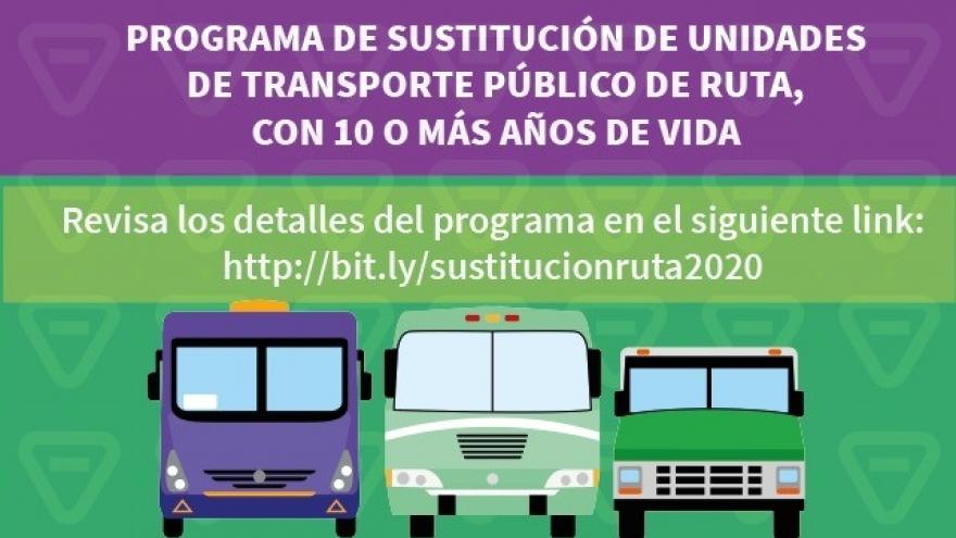 Programa de Sustitución de Unidades de Transporte Público de Ruta
