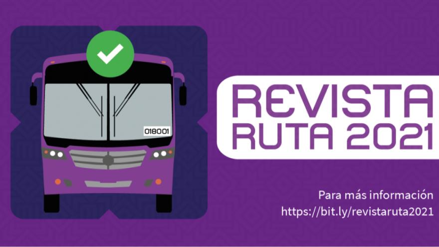 ¡El proceso de Revista Vehicular 2021 de RUTA ha iniciado!