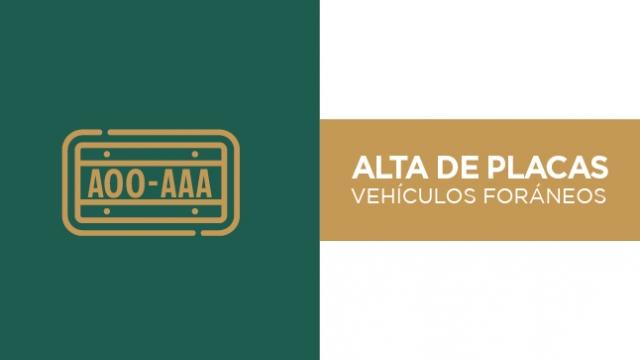 Alta de placas vehículos usados de otra entidad federativa