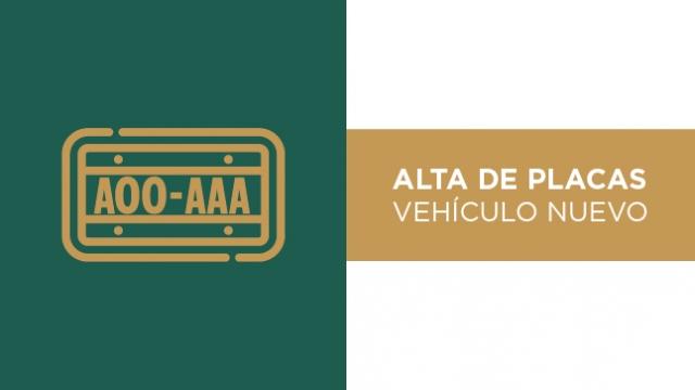 Alta de Placas Vehículo Nuevo